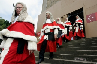 Australian Supreme Court judges take part in traditional Red Mass at St. Mary's Cathedral in Sydney