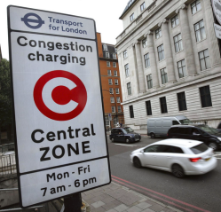 Congestion zone sign