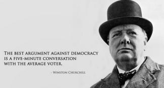 Churchill v democracy