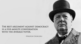 Churchill v democracy