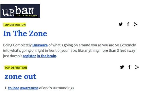 In zone
