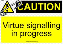 Virtue signalling